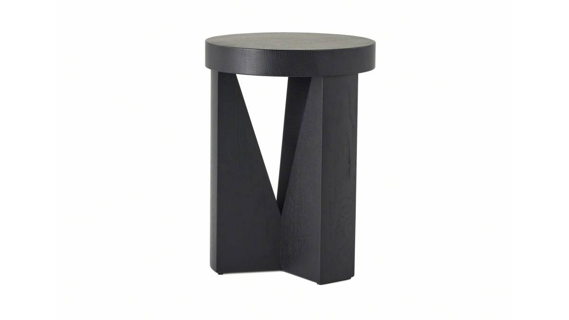 Cugino stool in a black ash color