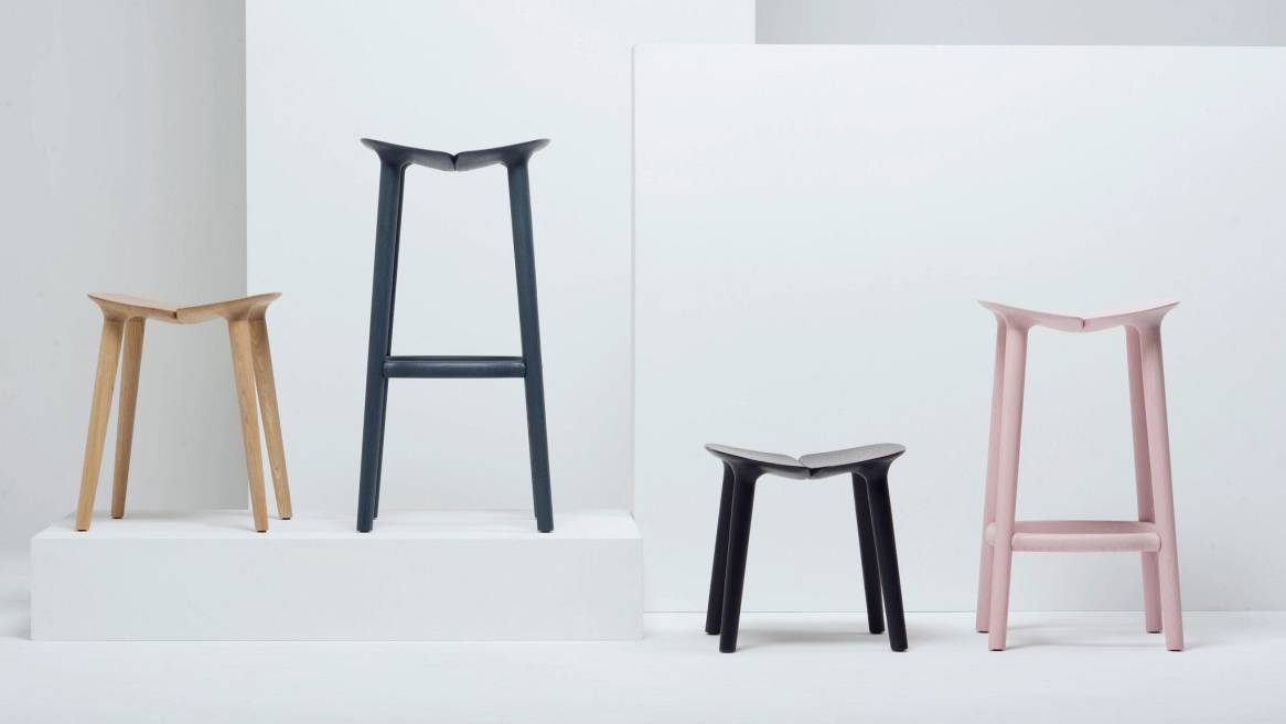 A variety of Mattiazzi Osso Bar Stools, Osso Counter Stools and Osso Low Stools in different colors
