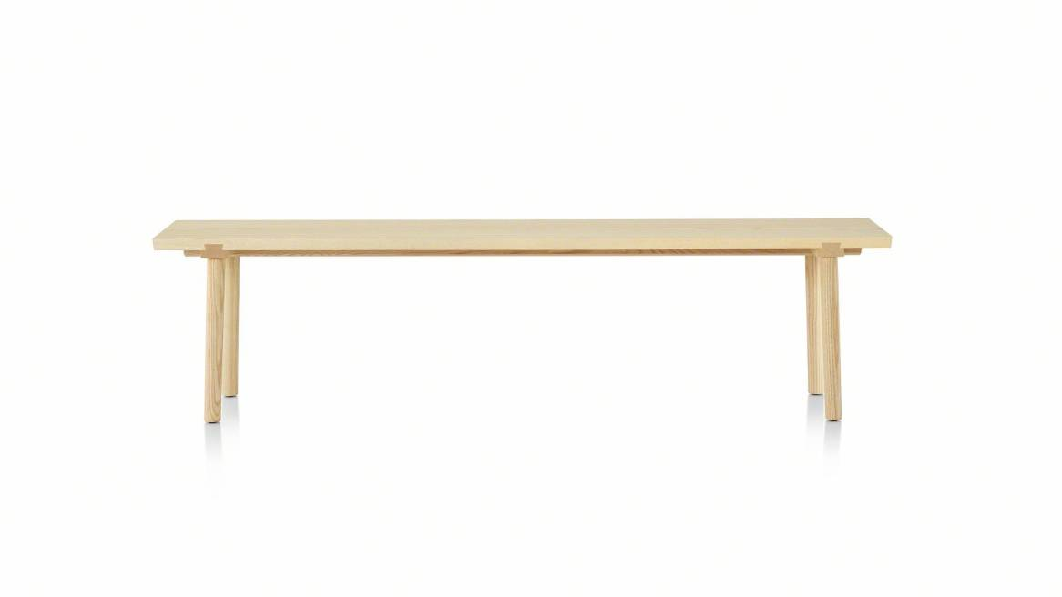 facile bench in a natural ash color
