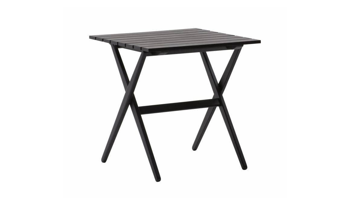 Fionda table in a black ash color