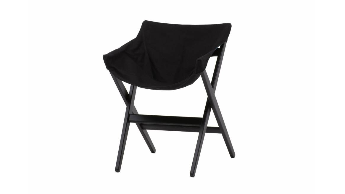 Fionda side chair in a black ash color