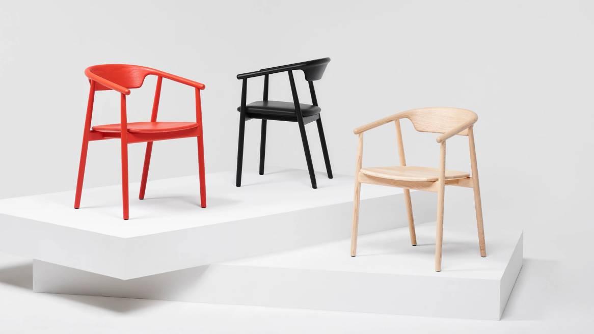 three mattiazzi chairs