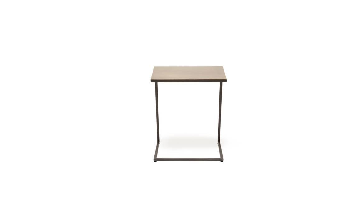 Antique Brass & Blackened Steel Side Table