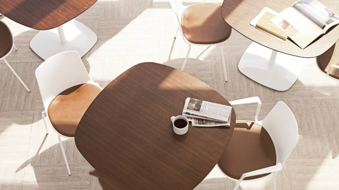 Enea Lottus Armless Chair with Upholstered Insert