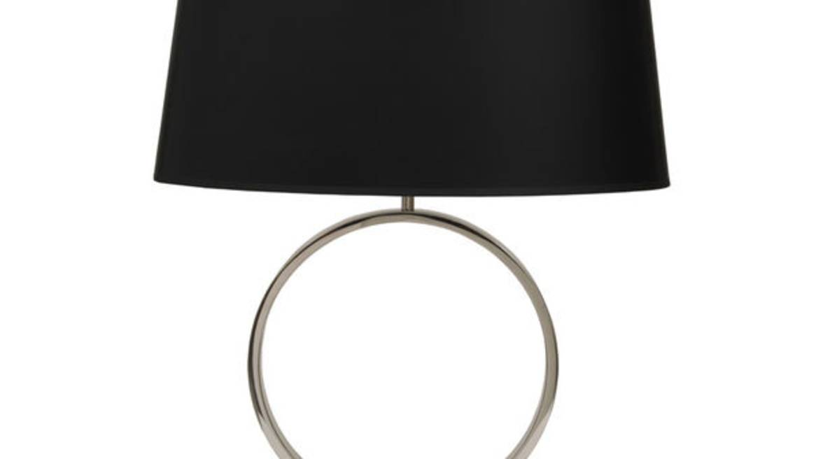 MARCO POLISHED NICKEL TABLE LAMP W/ SHADE
