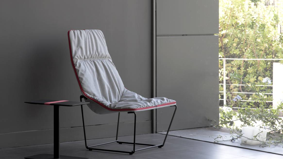 Ace Metal Base Armchair Soft Upholstery
