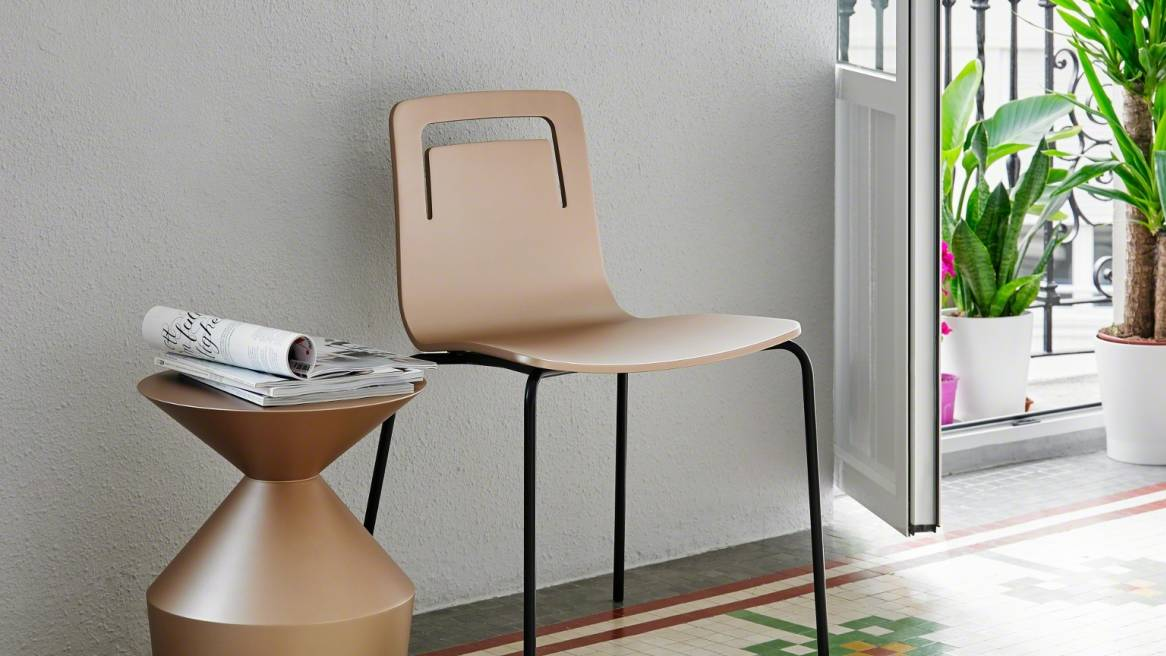 Klip-CHAIR,4LEG,WITH UPHOLSTERY