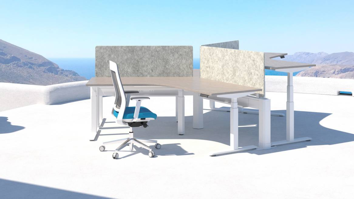 ACTIV-Pro 3-Stage Desk - White