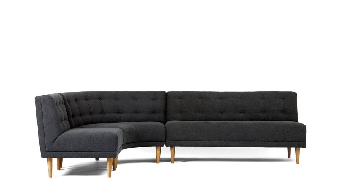 Rounded Retro Sectional - Armless Chair
