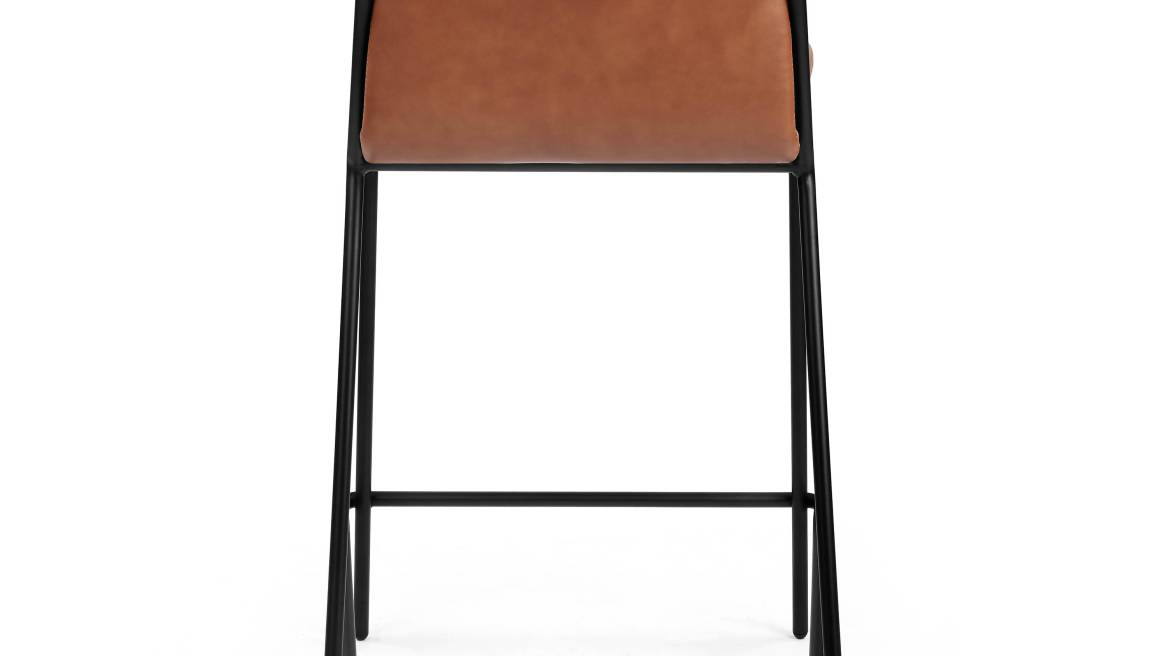 Sling counterstool, upholstered