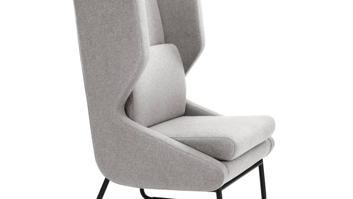 Wing lounge chair