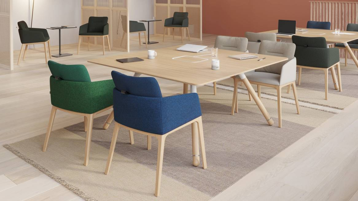 work café with Marien152 Seating Collection and Potrero415 Social Cafe