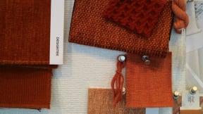Designtex fabrics in red tones