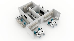 Convey Storage, Sync, Verge Stool, Amia Chair, Surround, Lagunitas Work Table, Nooi Chair, FLOS Ktribe S3 Lamp, Shortcut, Media:scape Planning Idea