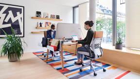 EMEA Munich LINC Leadership Space Post COVID Desk Sharing
