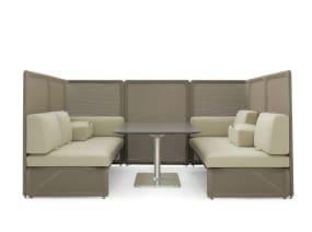Lagunitas Booth Lounge Seating on white