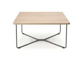 Square wooden B-Free Corner Table