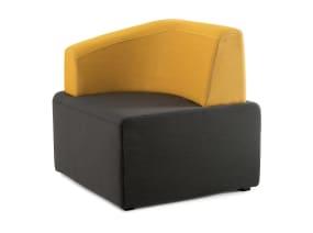 Dark gray and yellow B-Free Lounge