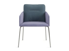 guest chair with metal legs