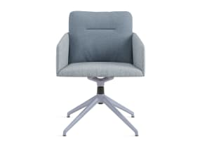 light blue 4-star base chair