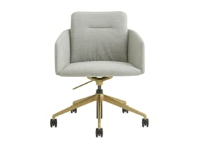 off white conference chair 5-star base