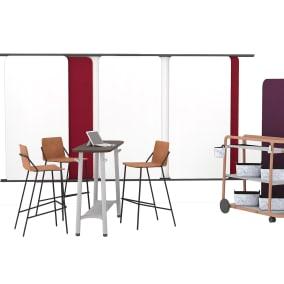 Steelcase Flex Board Cart, Steelcase Flex Team Cart, m.a.d. Sling Stools, Steelcase Flex Slim Table, Steelcase Freestanding Screens, Steelcase Flex Wall Rail, Steelcase Flex Basket, Steelcase Flex Cup