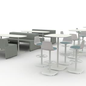 Enea Lottus Seating,Enea Lottus Table, Enea Table, Enea Seating, Together Bench