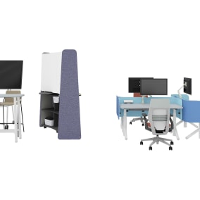 Flex Huddle Hub, Flex Tables, m.a.d Sling Stool, Roam, Flex Stand, Flex Screens, Gesture, Flex Power, Flex Accessories.