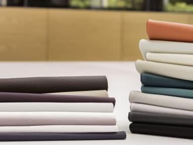 Elmosoft Leather of different pastel colors