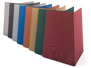Campfire Screens in various colors on white background