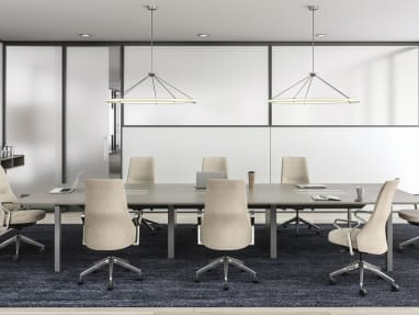 Massaud Conference chairs around a large meeting table