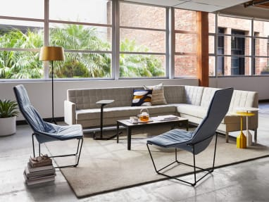Millbrae lounge seating and Coalesse Free Stand in an office lounge