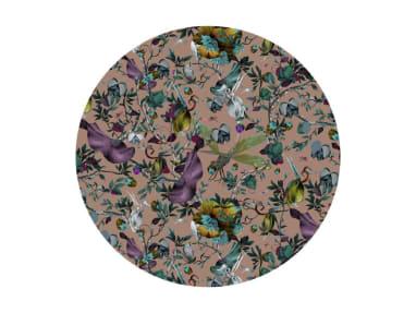 biophillia nude round moooi carpets On White