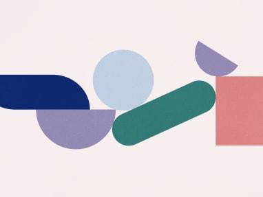 geometric shapes banner