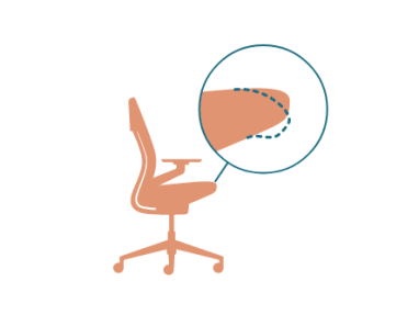 illustration of the side view of a chair