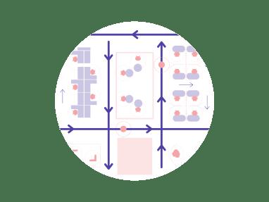 circulation patterns icon