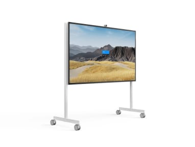 """Steelcase Roam Collection Mobile Stand for the Microsoft Surface Hub 85"""" on-white"""
