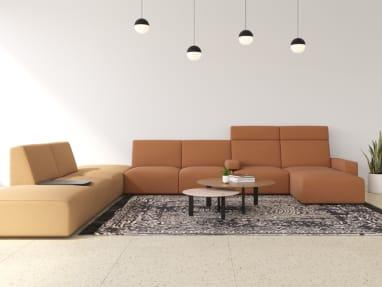 Sistema Lounge System 3-Seat Bench with Leg Base