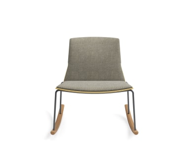Montara650 Wood Shell Rocker with 3/4 Upholstered Back, without Arms