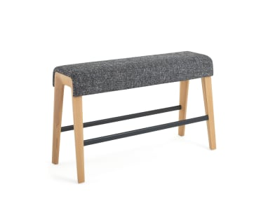 Small gray B-Free Beam with wooden legs on white background