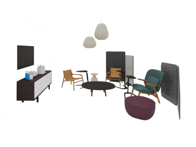 Collaboration Space with Steelcase and Bolia products