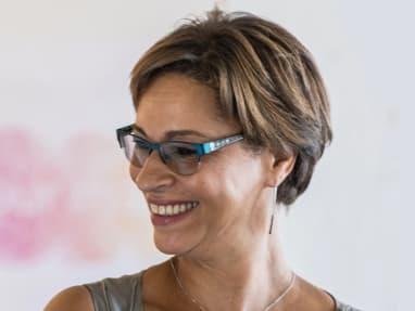 headshot of gabrielle Bullock wearing glasses