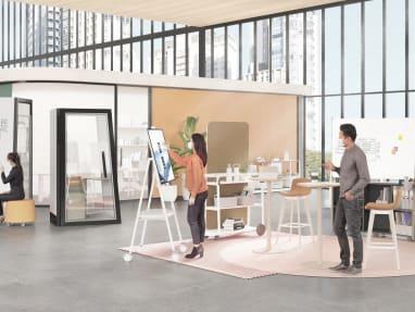 Collaboration spaces promo tile