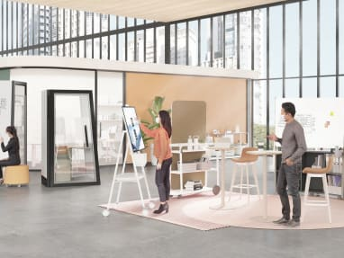 Collaboration spaces illustration for promo tile