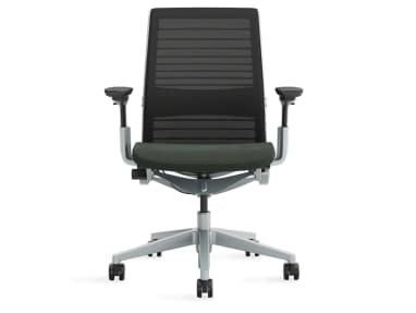 Think chair with mesh on white background
