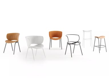 viccarbe funda chairs, stool and lounge seating