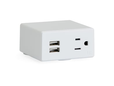 close up to Steelcase Powerstrip Intro cube