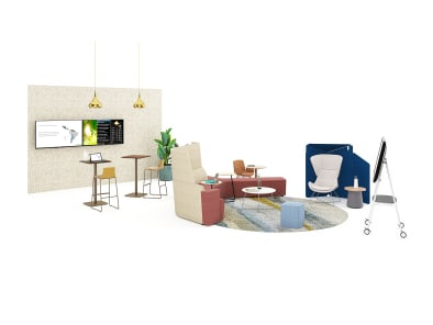 Social space setting illustration