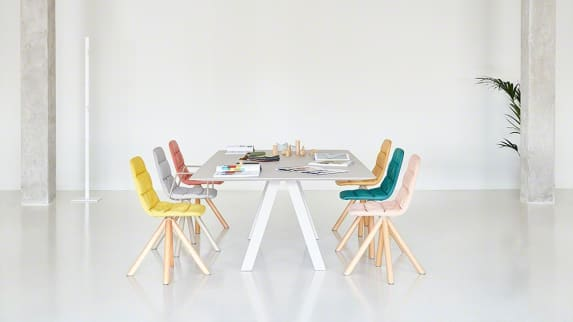 Viccarbe chairs and table