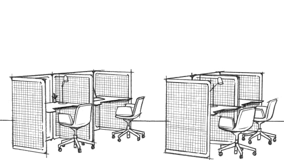 SketchUp in black and white for focus area with Lagunitas Focus Nook